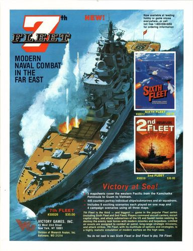 #WargameWednesday -The 80's are calling and they want their 7th Fleet (Victory Games, 1987) back!